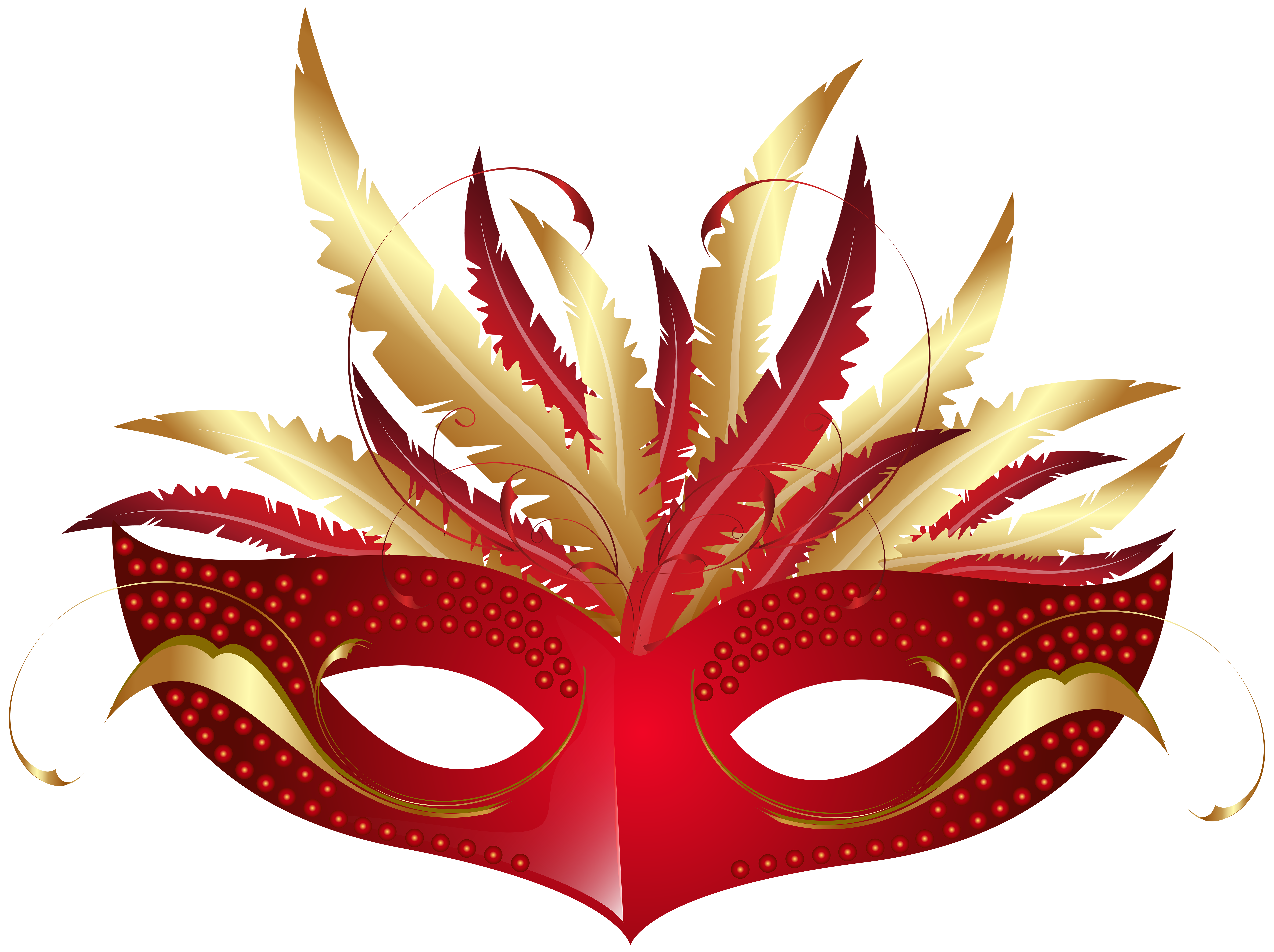 Red Carnival Mask PNG Transparent Clip Art Image Gallery
