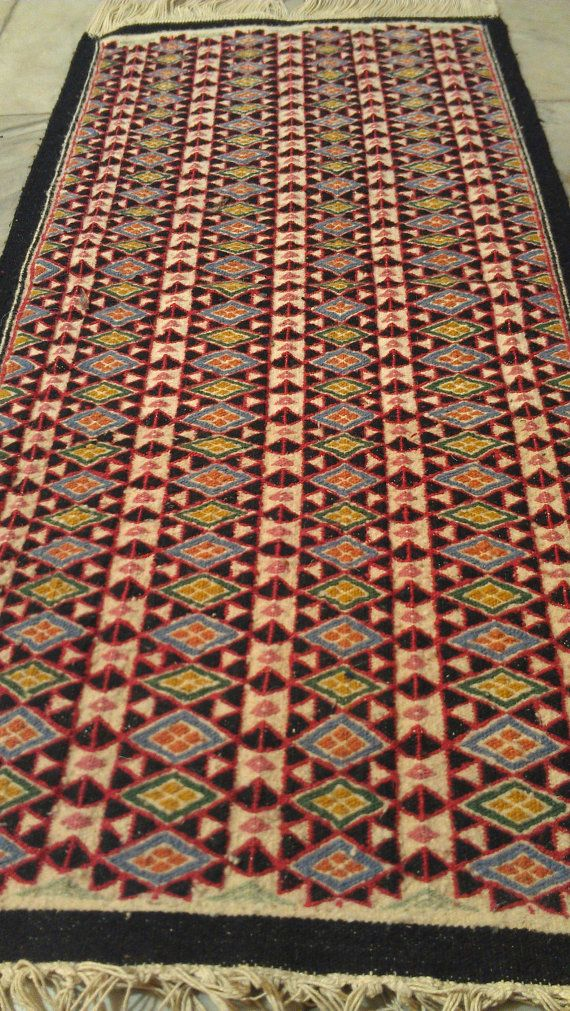 kilim red blue yellow green black white  rugs  kilim by RUGSstore