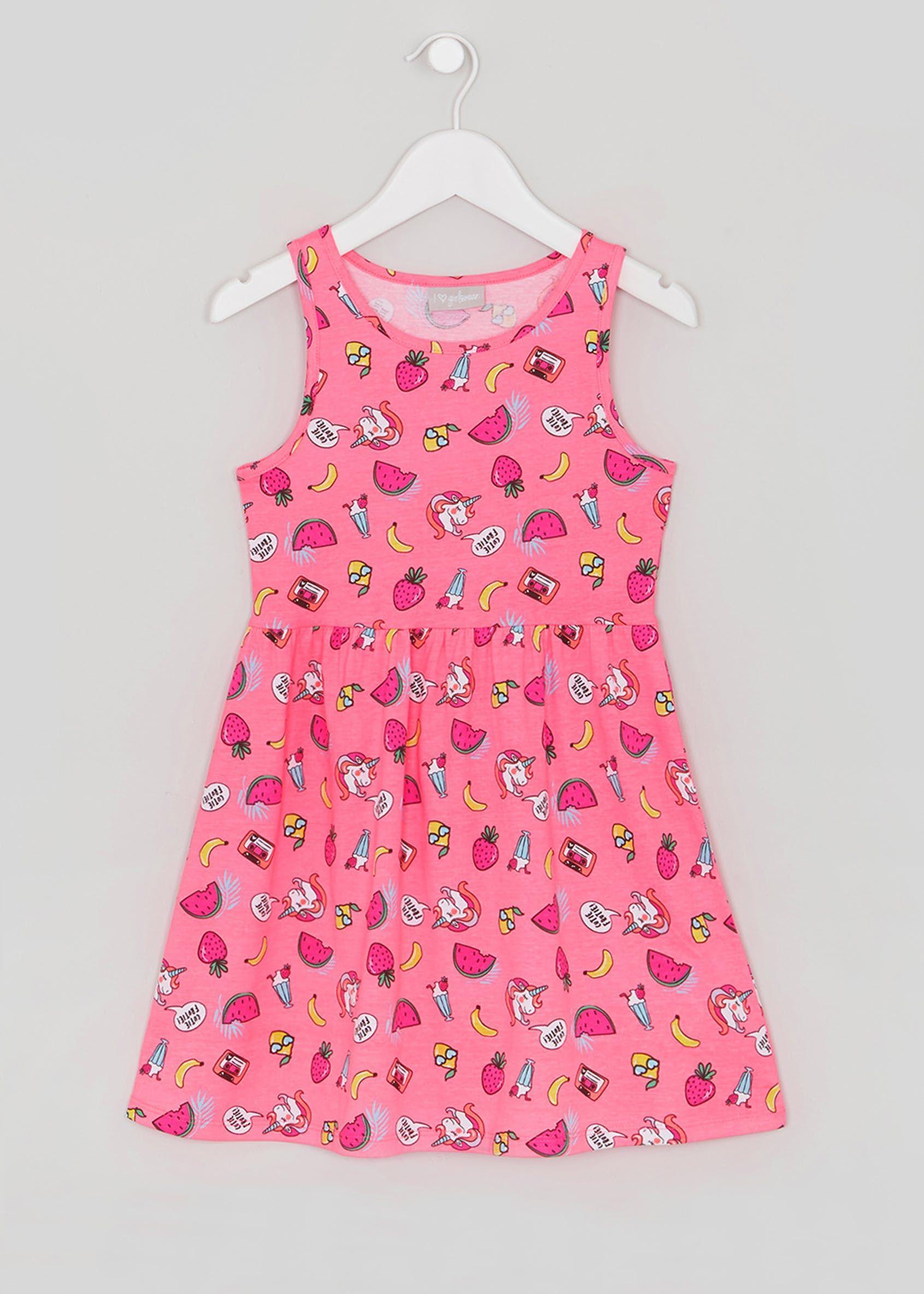dcbd81fcc851 Girls Unicorn Dress (4-13yrs) – Pink | G I R L S - P R I N T S ...
