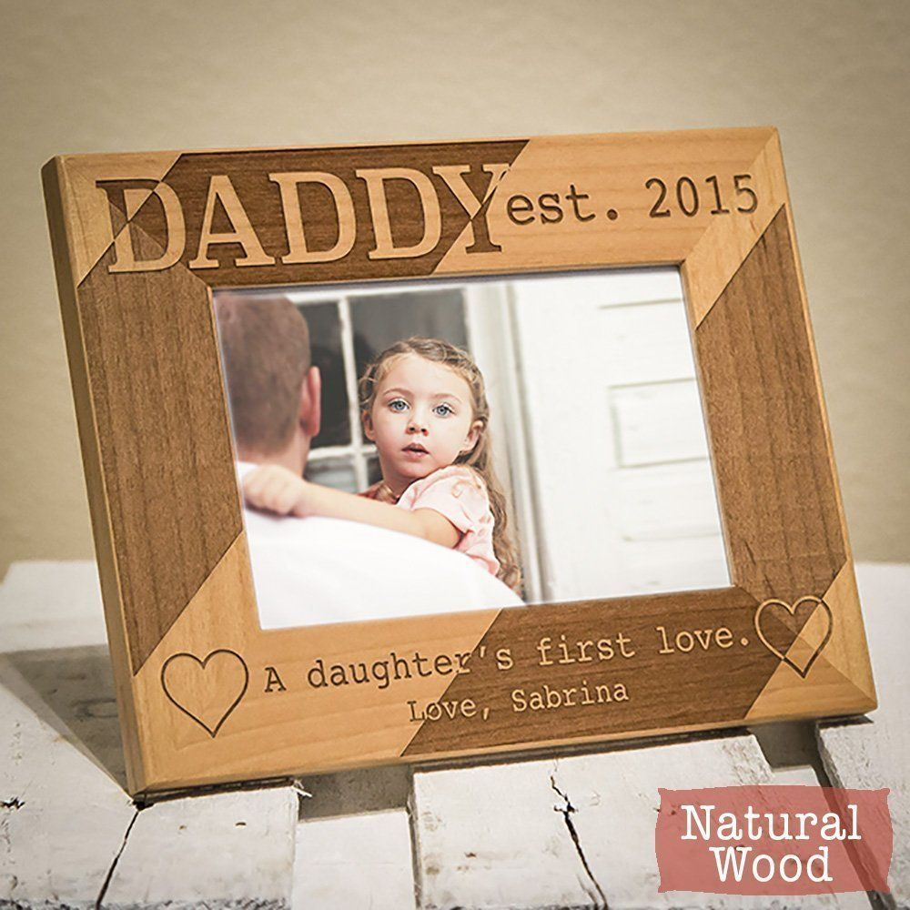 Personalized Dad Picture Frame - Dad Gift From Daughter - Dad Gift From Children - Dad Picture Frame From Daughter - HHDPF ^^ For more information, visit now : Handmade Gifts