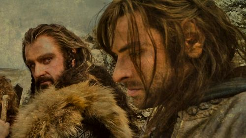 """In the third film we [Thorin and Kili] had some really kind of sensitive, intimate moments. He's [Kili] such a heroic character in the first movie and his journey is fascinating and he goes through all sorts of traumas, so it was a real privilege to play that with him [Aidan] and he really gave himself up to it."" Richard Armitage on Kili/Thorin I. AM. SO. EXCITED. O_O"