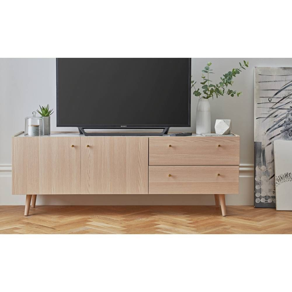 Buy Argos Home Evelyn Tv Sideboard Marble And Light Oak Effe