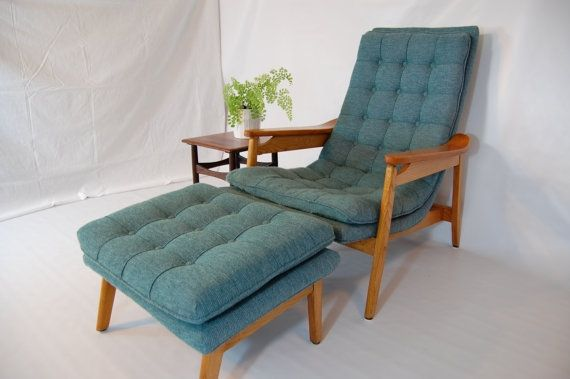 Turquoise Lounge Chair with Ottoman by MidCentury55 on Etsy $550.00 & Turquoise Lounge Chair with Ottoman by MidCentury55 on Etsy $550.00 ...