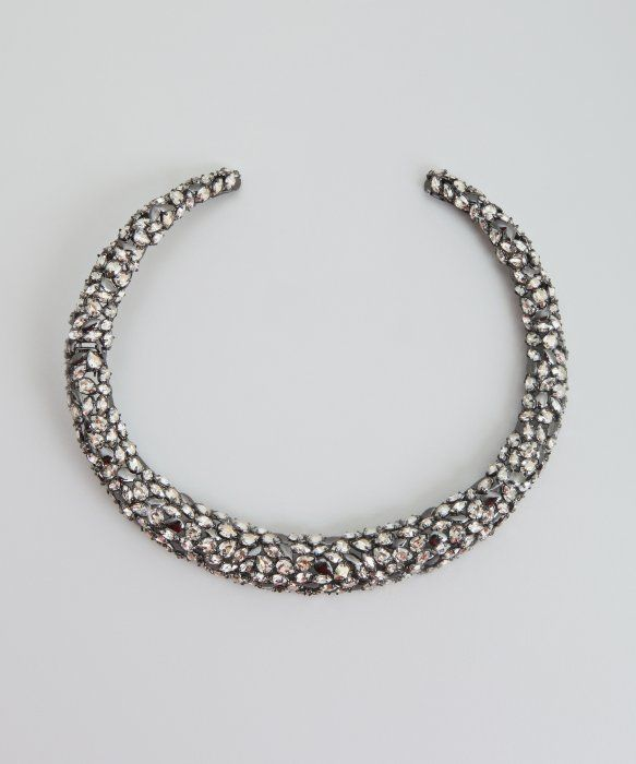 Alexis Bittar gumetal and crystal hinged