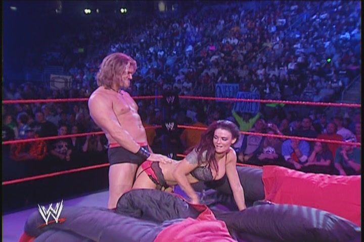 I Guess And Its Only My Attempt To Think Like Them Because Of The Angle In Which Edge Stays Behind Lita