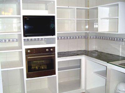 Resultado de imagen para cocinas de cemento y ceramica for Gabinetes en cemento