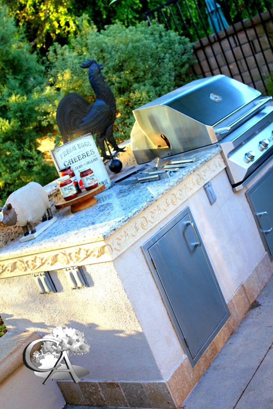 Outdoor kitchen, built in BBQ Landscape/Design/Build Orange County ...