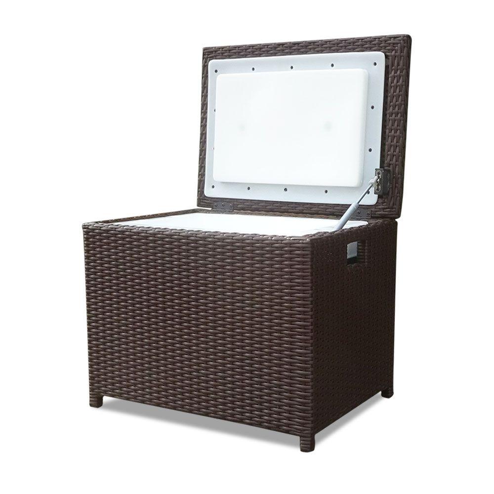 Buy Luxo Wicker 34L Outdoor Cooler Box - Brown Online ... on Luxo Living Outdoor id=40175