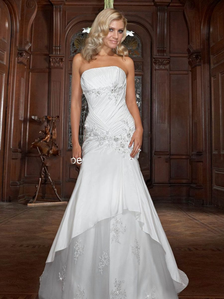 Weddingdressessweetheartnecklineblingtrendsforweddingdresses