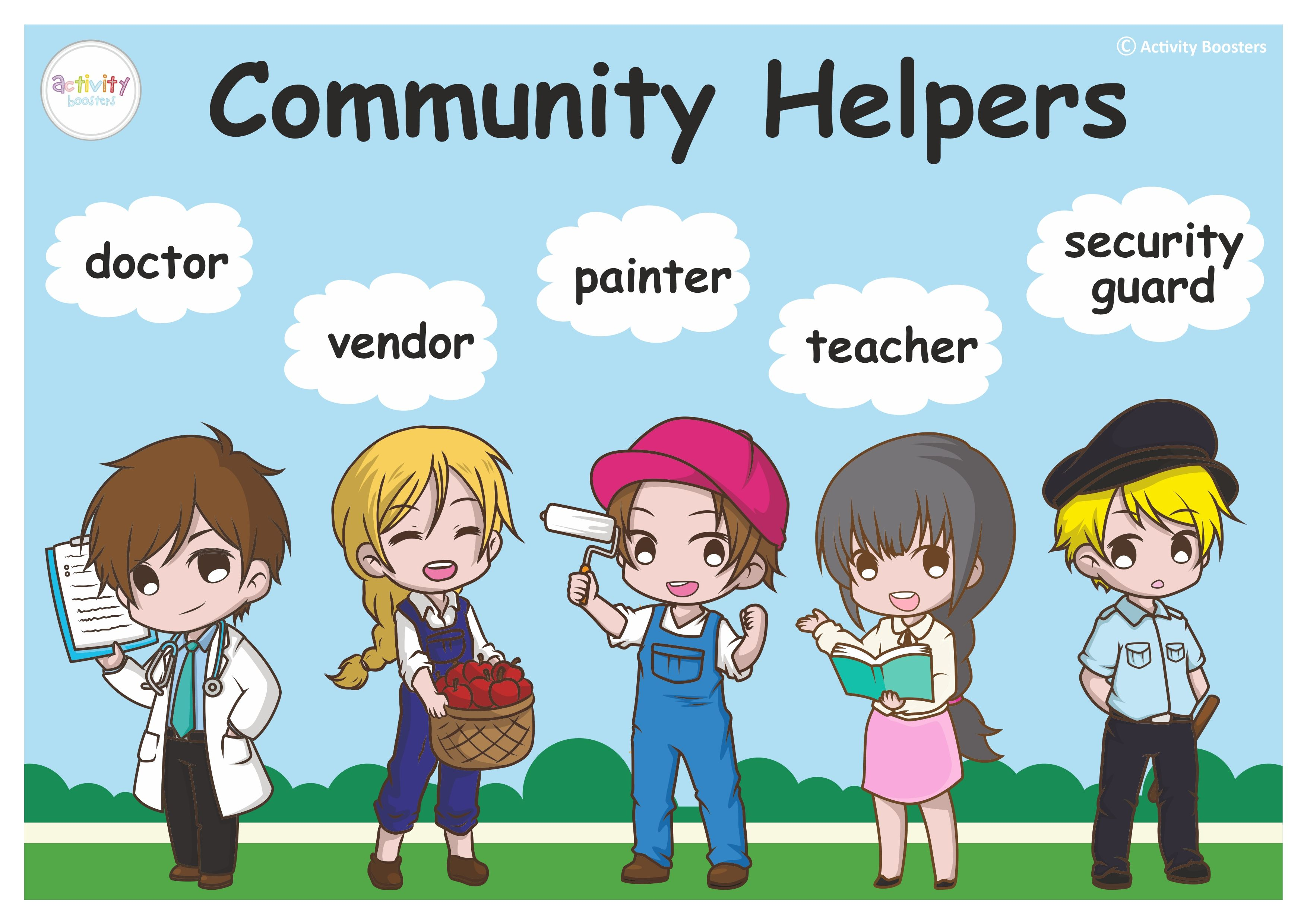 Free Community Helpers Posters Download Full On Our