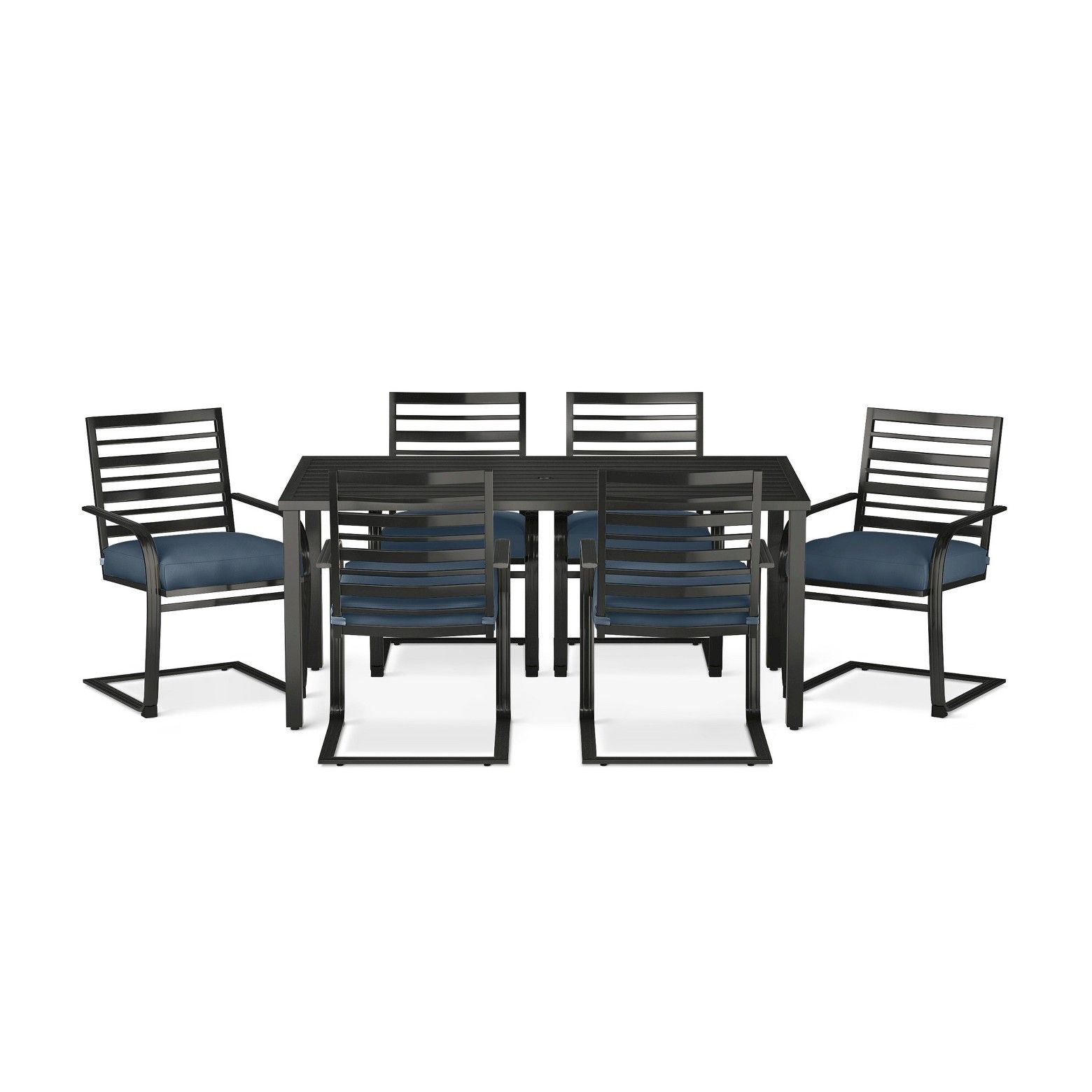 The Threshold Ft Walton 7pc Motion Dining Set provides comfort and ...