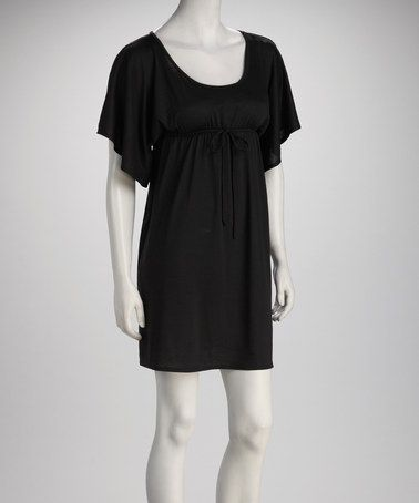 Take a look at this Black Angel-Sleeve Dress by Star Vixen on #zulily today!