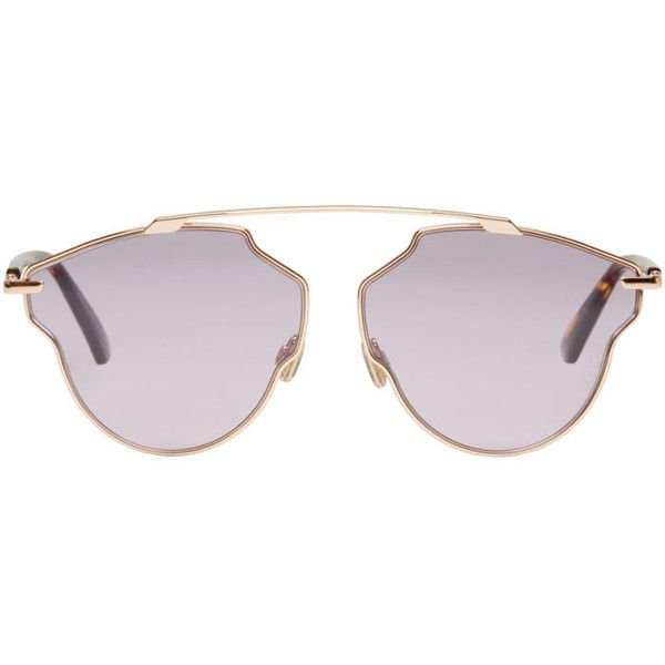 5ab332b29ea Dior Rose Gold and Purple So Real Pop Sunglasses ( 360) ❤ liked on ...