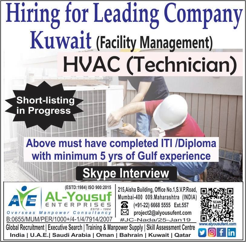 India Required Working Location Kuwait Employment Type