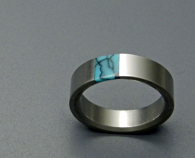 Wedding Rings Anium Wood Men S Ring Women Unique Engagement Commitment True North