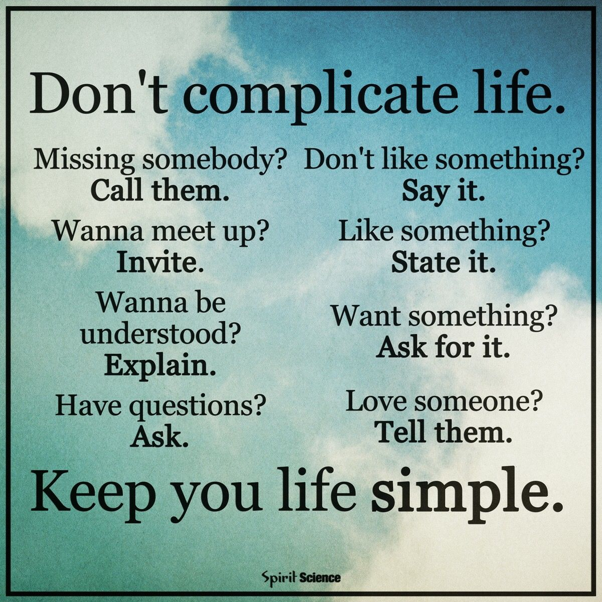 Wisdom About Life Quotes Keep It Simple❣It's All About The Little Things❣ Www