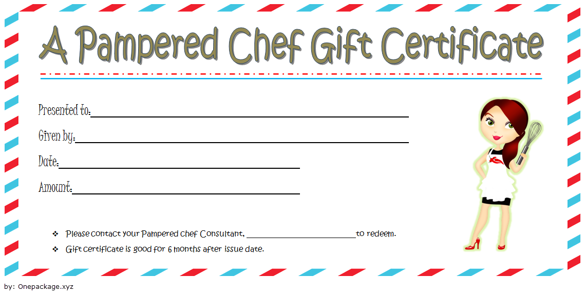 Pampered Chef Gift Certificate Template