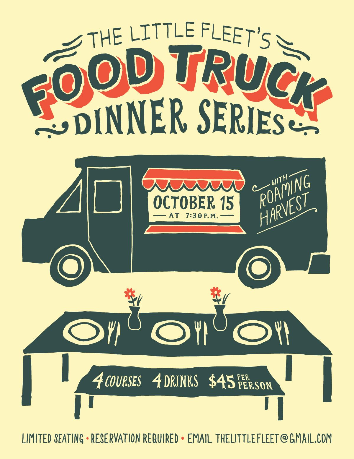 TLF food truck dinner Jordan Dale Young Food truck