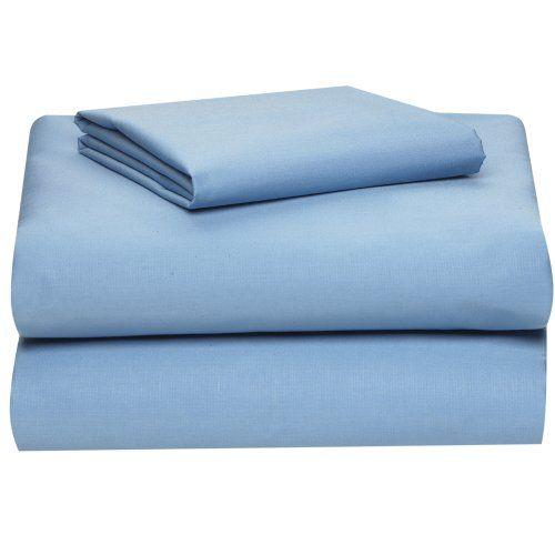 Extra Long Twin Sheet Set, Light Blue