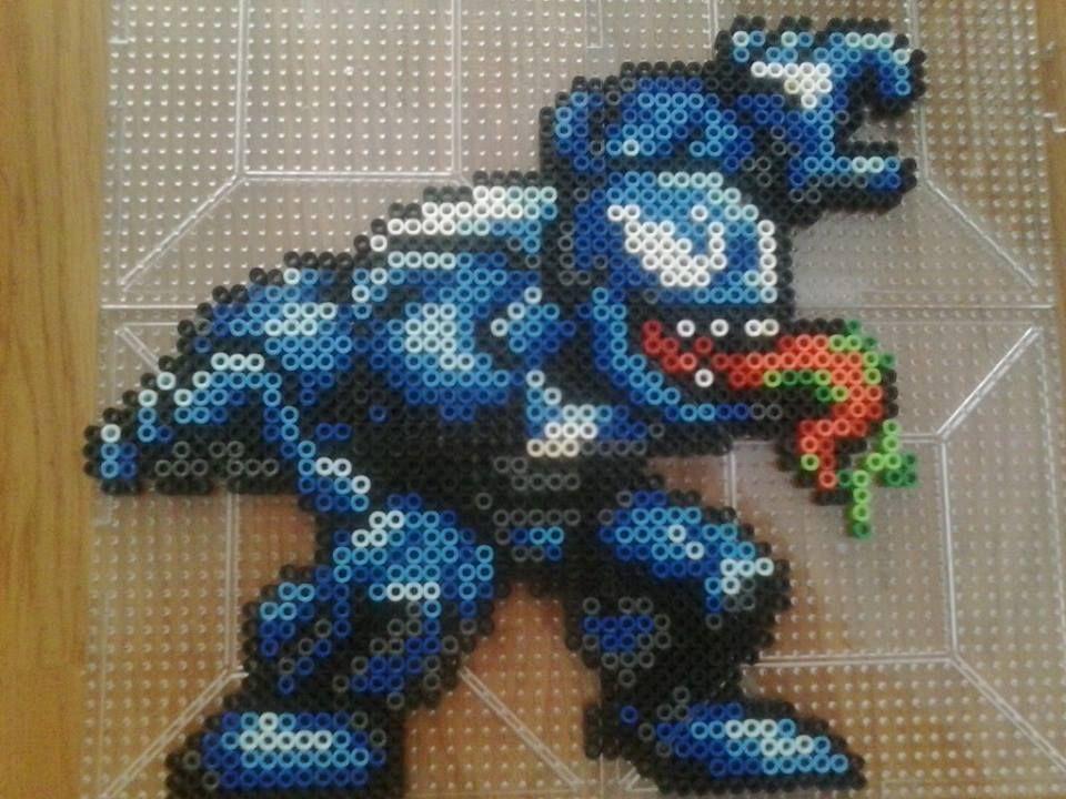 Venom Perler Sprite | Perler bead art, Perler bead ...