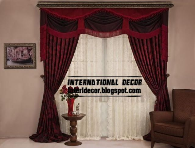 Drapery Designs For Living Room Entrancing Top Curtain Model And Unique Draperies Design Red And Black Design Ideas
