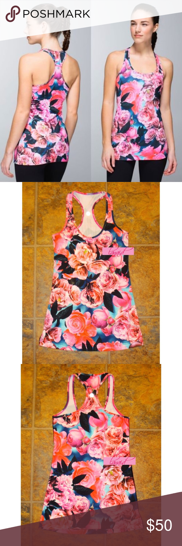 "Lululemon Secret Garden Cool Racerback Tank Top 4 📡PRICE IS FIRM AND NON-NEGOTIABLE. NO OFFERS. LOWBALLERS WILL BE BLOCKED. NO TRADES.📡 Lululemon ""Cool Racerback"" tank top in Secret Garden. Made with Luon®, which is sweat-wicking and breathable with a four-way stretch. Thin racerback keeps you cool. Long length helps this tank stay put and is great for layering. Removable inner tag was taken out, but this is a size 4. The perfect base piece. lululemon athletica Tops Tank Tops"