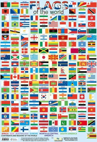Flags Of The World Print Flags Of The World World Country Flags All World Flags