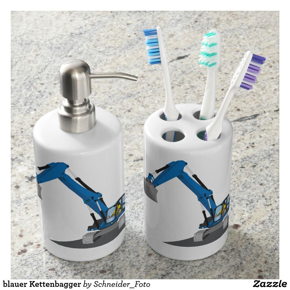 blue chain excavator bathroom set bath accessory sets pinterest rh pinterest co uk