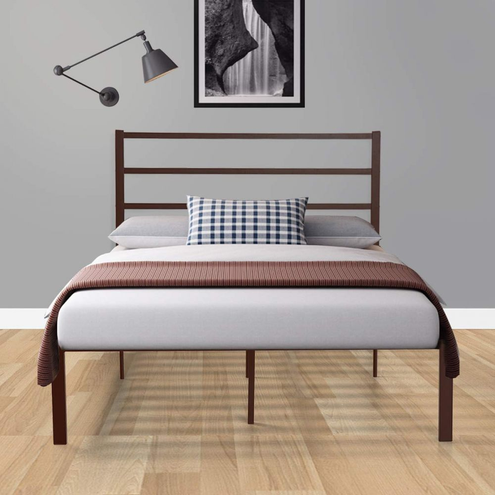 Platform Twin XL Bed Frame King with Headboard in 2020