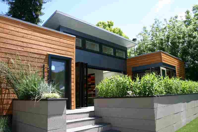 House Front · Home Design, Sustainable Modern Modular.