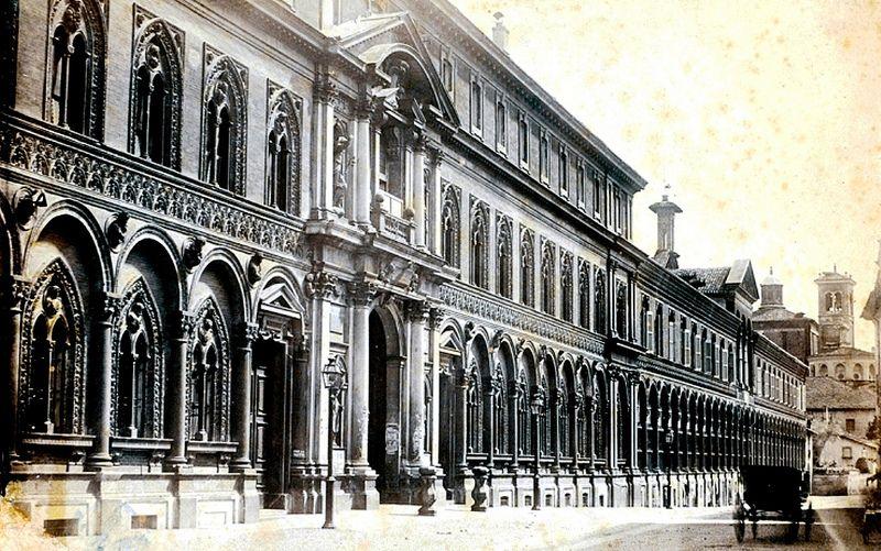 Ospedale Maggiore,si intravede anche la bella chiesa di San Nazaro | da Milàn l'era inscì