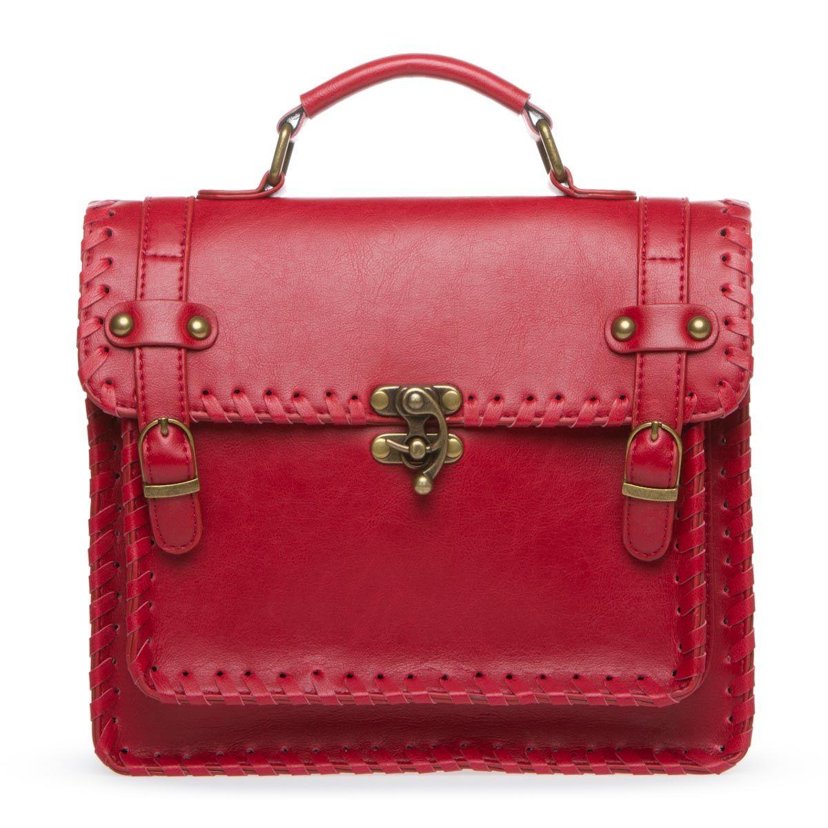 Red Boho Handbag.