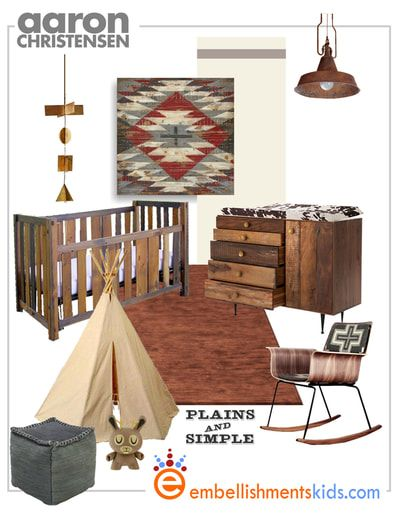 Design ideas for a southwest, western nursery and childs bedroom