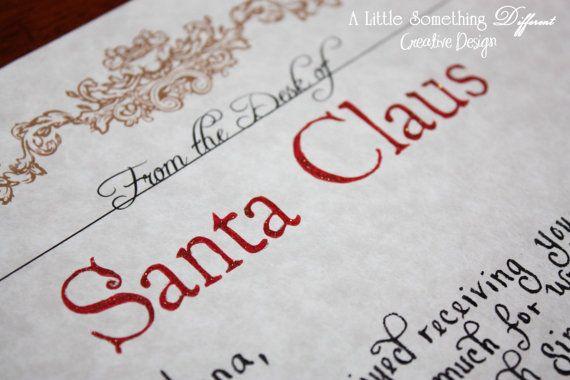 Handwritten letters from Santa  Christmas  Pinterest