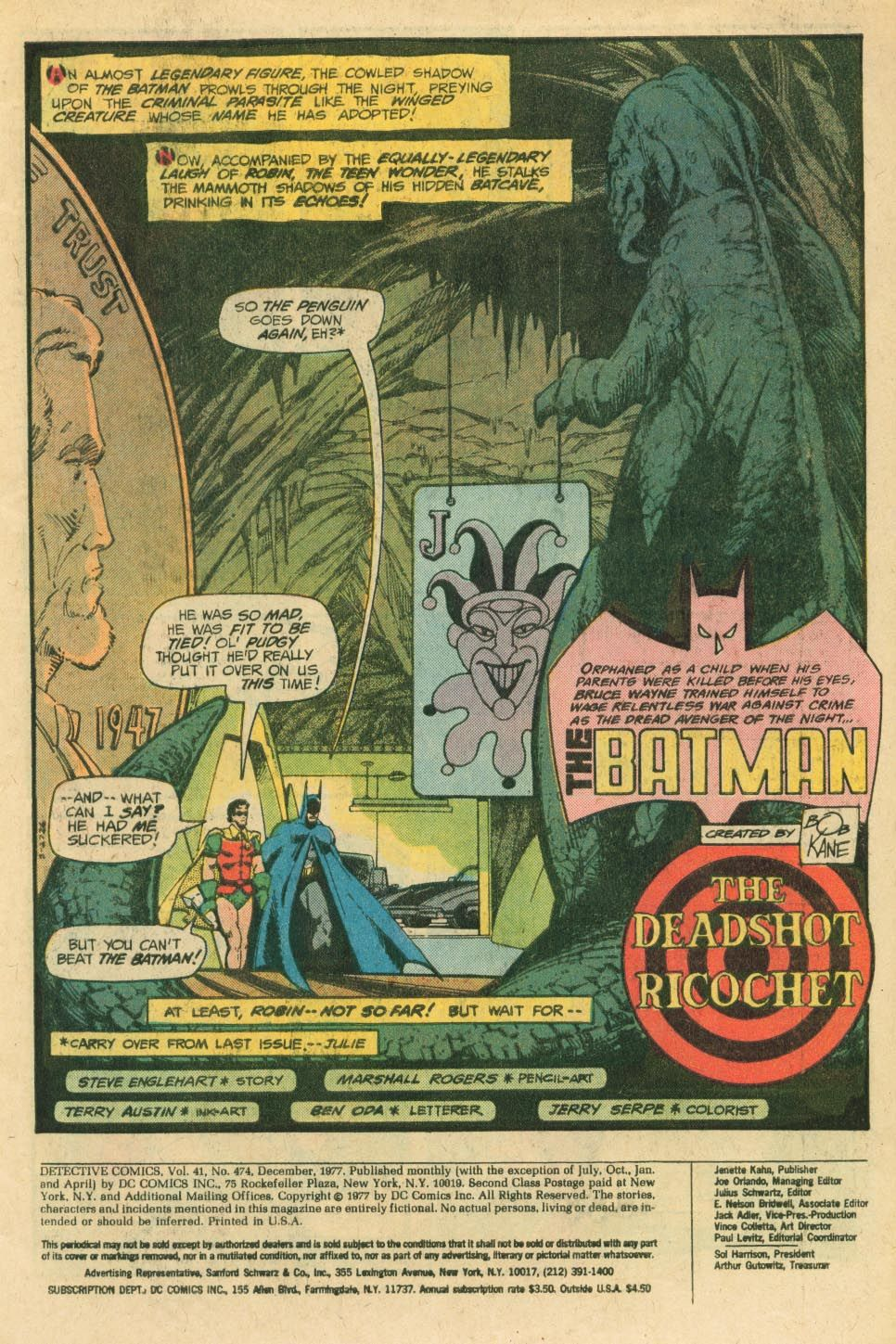 detective incorporated marshall rogers | Making a Splash: Marshall Rogers' Batman in Detective Comics