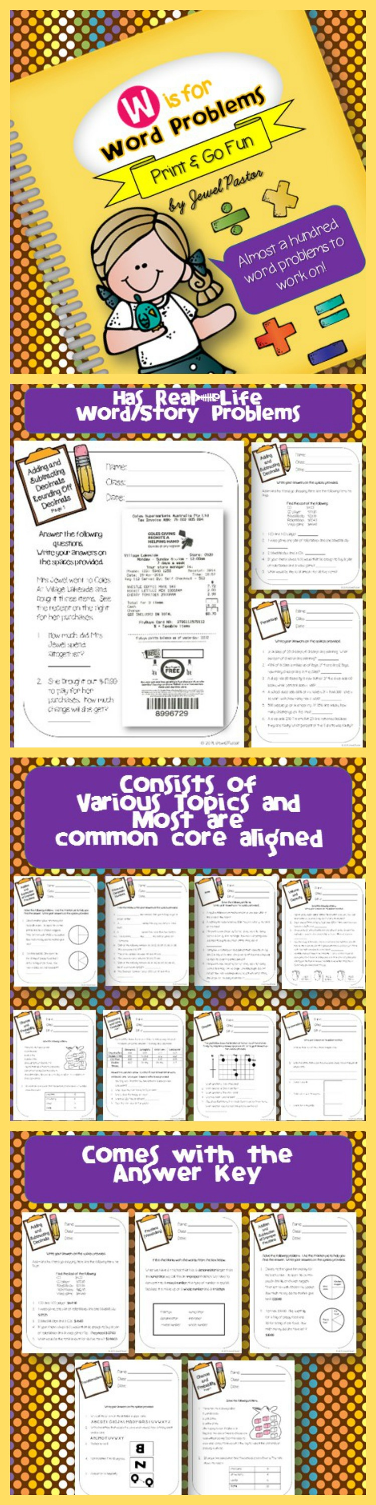 Word Problems Activities Math Problem Solving Strategies Posters