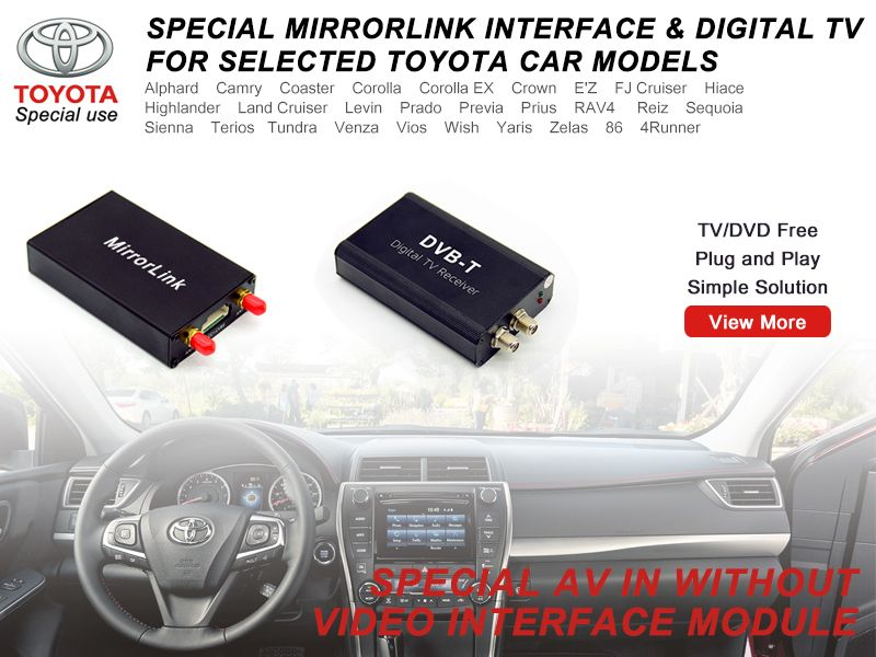 toyota video in motion, toyota mirrorlink | CAR ELECTRONIC