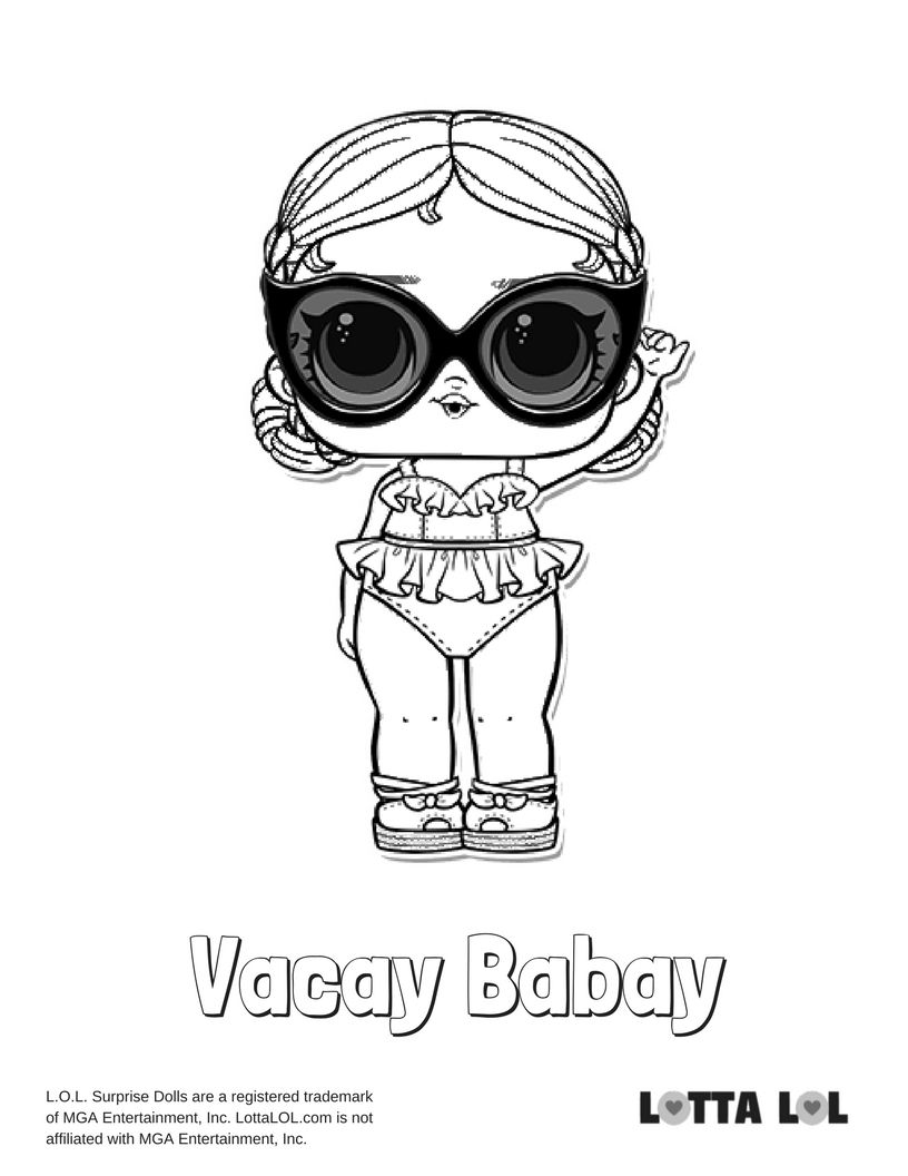 Vacay Babay Coloring Page Lotta LOL LOL Surprise Series