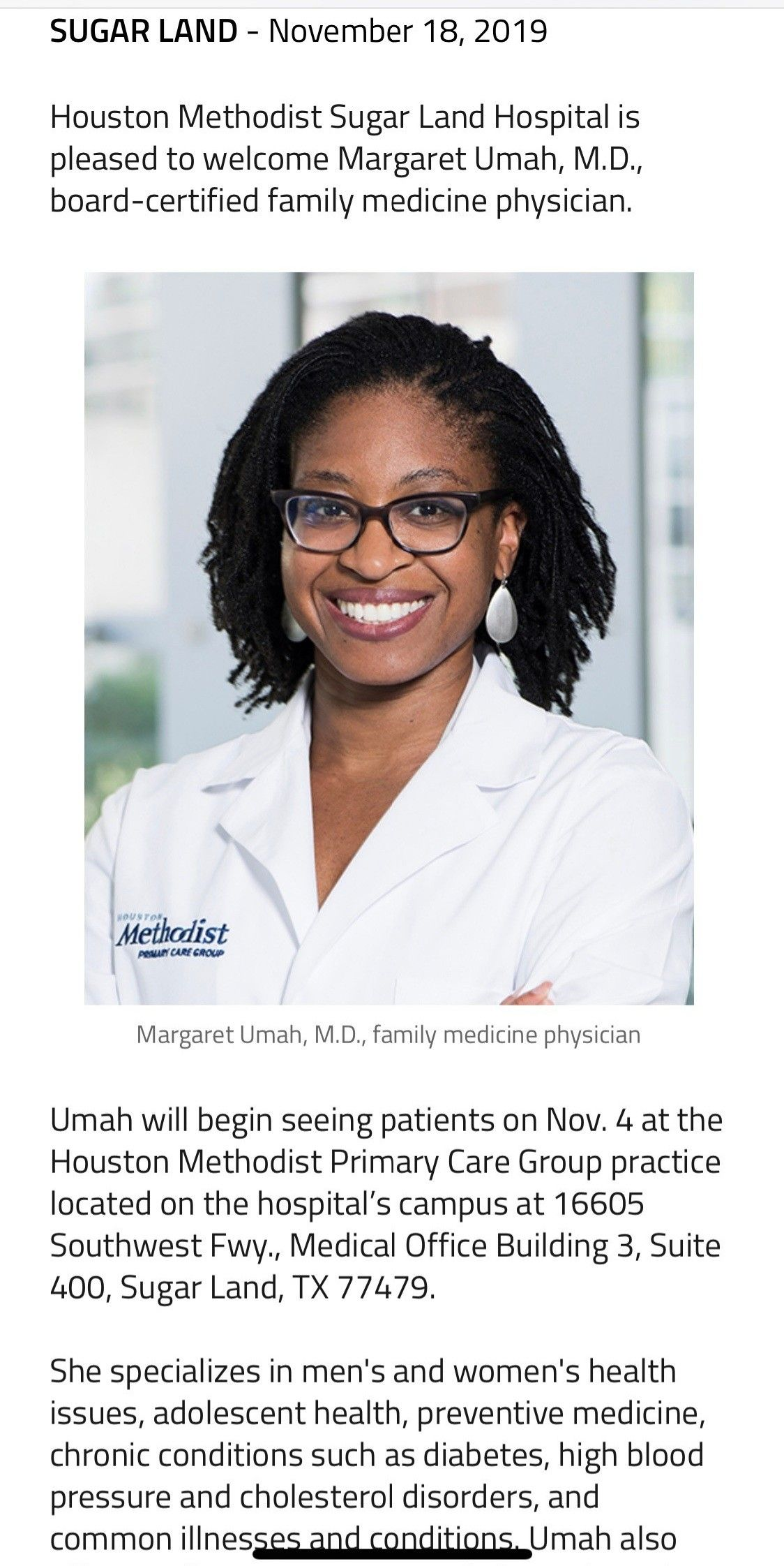 Doctor in 2020 family medicine primary care physician
