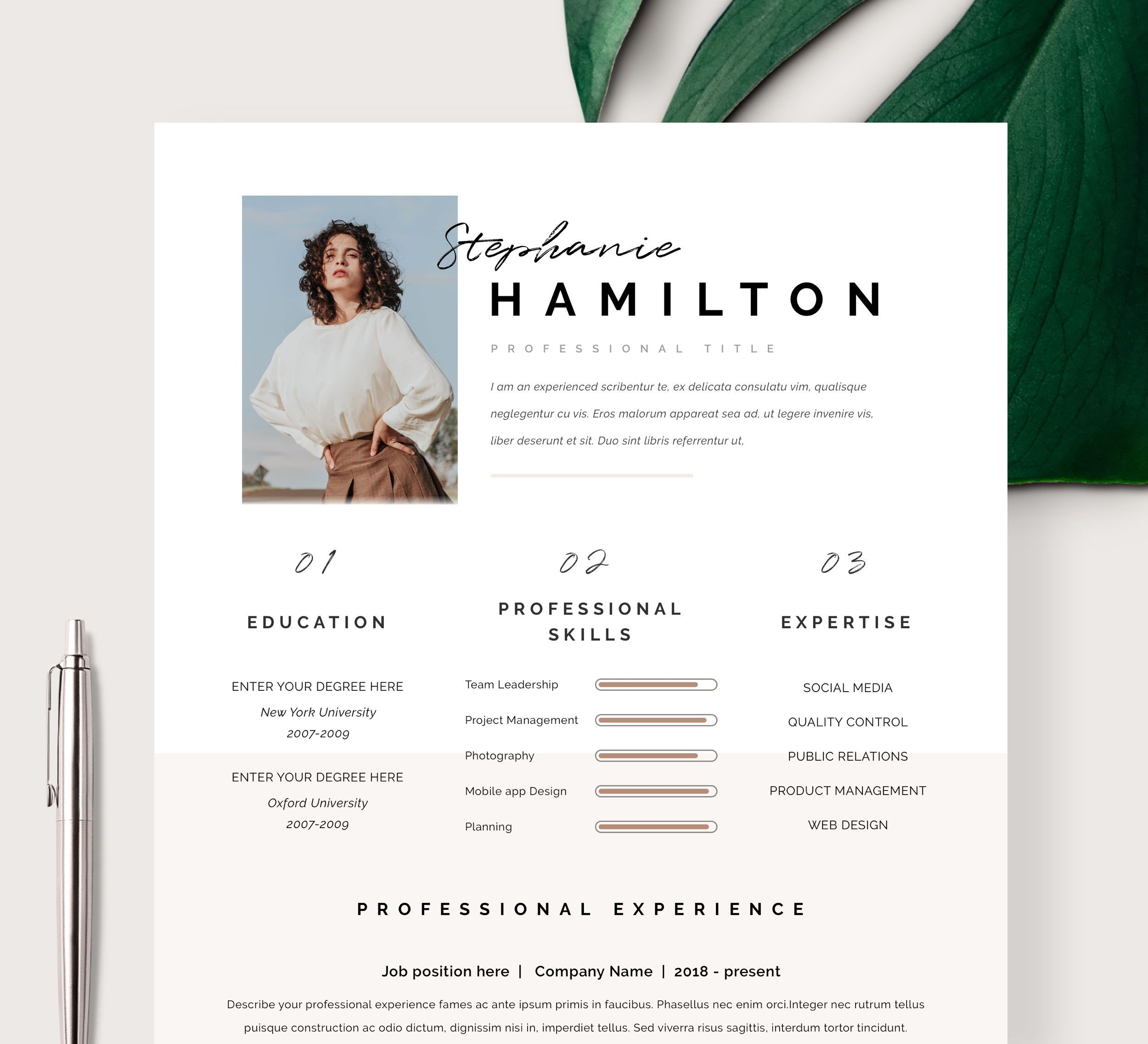 "Resume Template | Resume CV Template | CV design | Curriculum Vitae | CV Instant download Resume | Resume Templates | cv | ""San Francisco"""