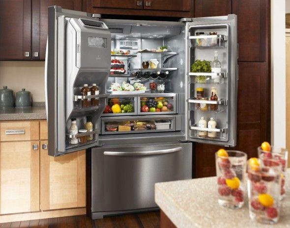 Attractive Ft. Platinum Interior, Standard Depth French Door KitchenAid® Refrigerator
