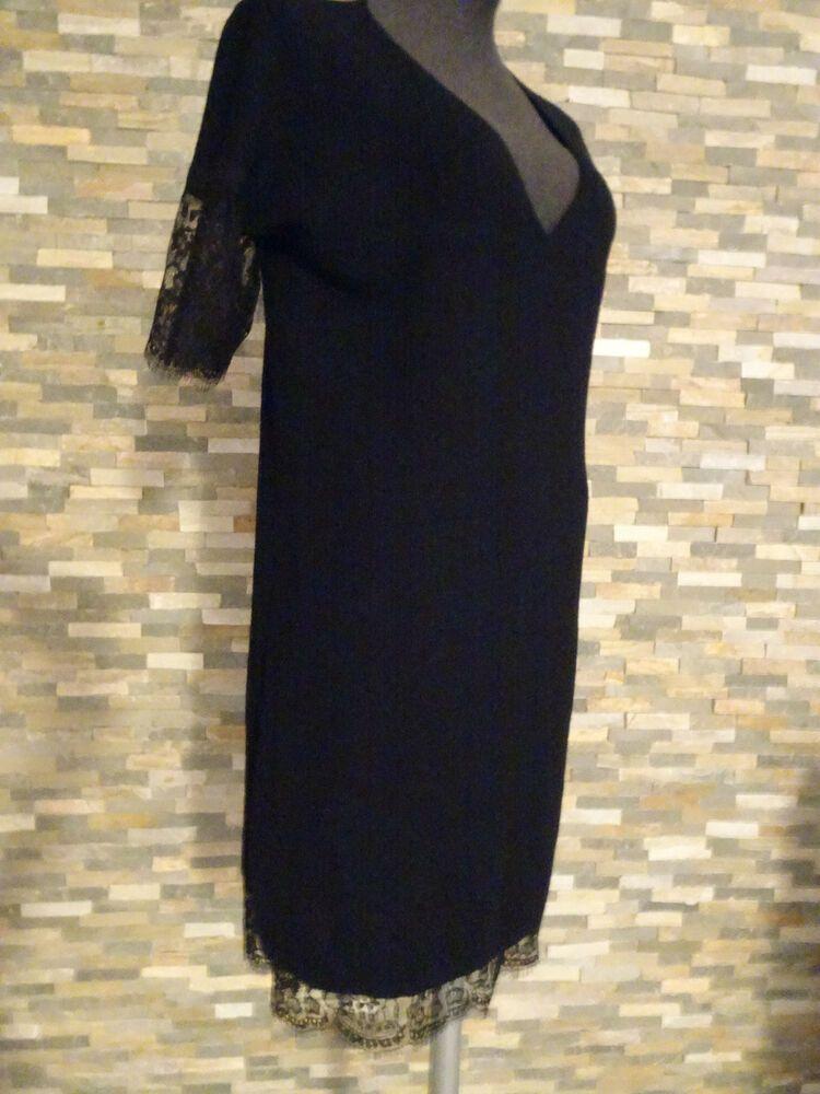 fdfeb00e39f51 TWIN SET SIMONA BARBIERI Kleid Abendkleid Wolle Spitze Gr. 36-40 XS NEU NP  219 #damen #kleider #trend #freu #mode