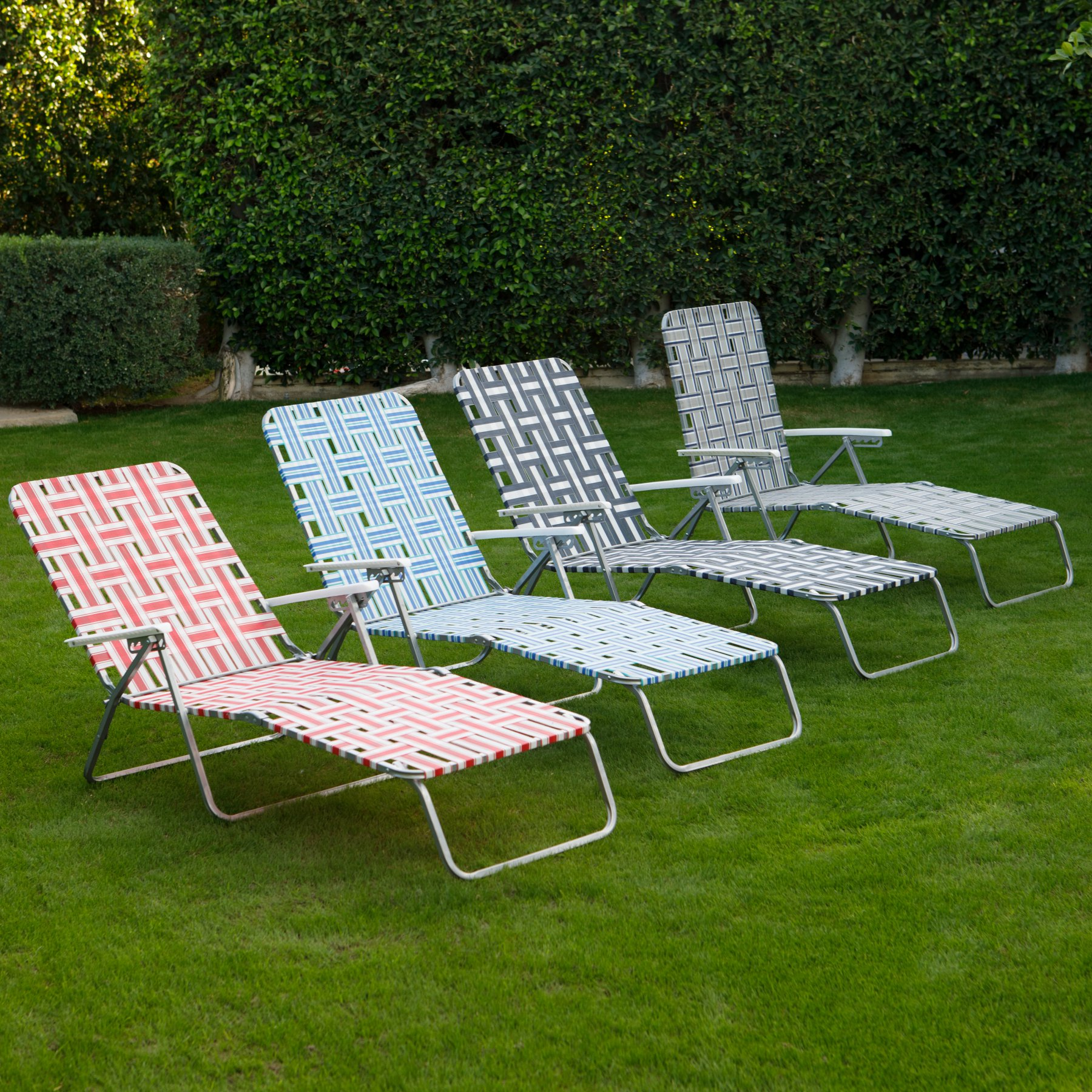 Coral Coast Steel Folding Chaise Lounge Chair Lawn