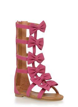 814c80cf2cb8 Girls 5-10 Tall Bow Zip Back Gladiator Sandals - 1737061120167 ...
