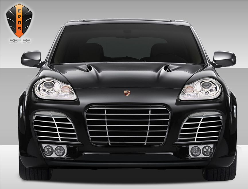 03 06 Porsche Cayenne Turbo Front Bumper Cover With Lower