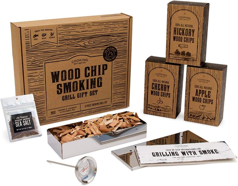 Wood Chips For Smokers Grill Set Gift Guide Unique Gift Ideas For Men The Gift Bulb Affiliate Gif In 2020 With Images Grilling Gifts Christmas Gifts For Him Gifts For Cooks