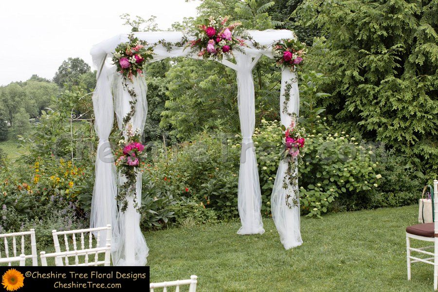 Wedding Ceremony Ideas Flower Covered Wedding Arch: Fabric Arch With Flowers