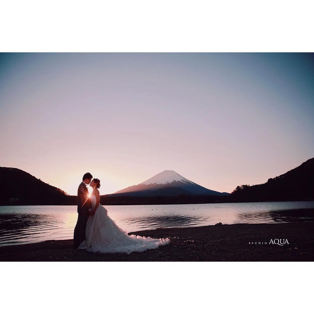 スタジオアクア富士 富士山前撮りロケーションフォト Weddingphoto 結婚式の写真撮影 ロケーションフォト ウェディングフォト