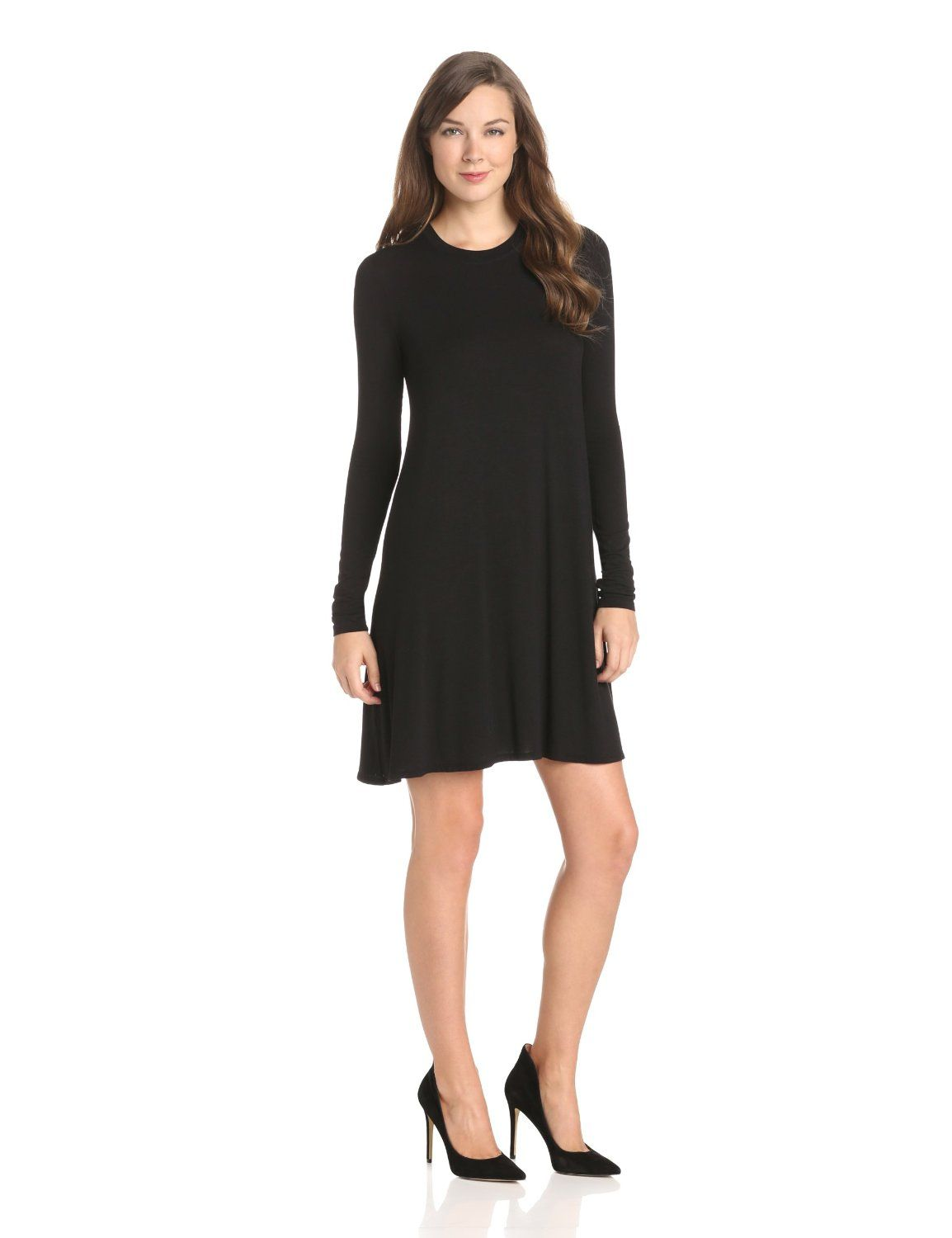 beaa0a4ac5d98 Jeanna Crew-Neck Long-Sleeve Shift Dress by BCBGMAXAZRIA | Dresses ...