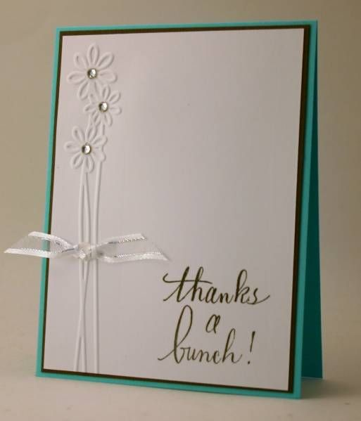 Simple Card Embossed Flowers Hand Lettering Draw The Flowers On Back Side Use Embossing Tool Over Drawing Ha Simple Cards Greeting Cards Handmade Cards
